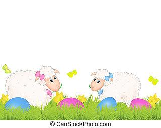 påsk, sheep