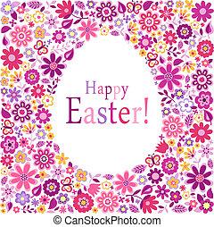 påske ægg, card, glade