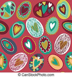 påske ægg, seamless, mønster