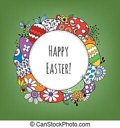 påske, baggrund, glade