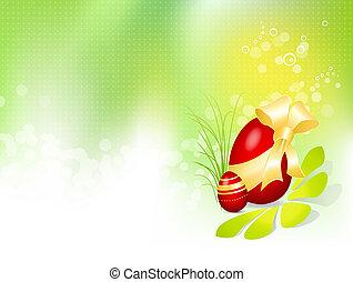 påske, baggrund, hos, påske ægg