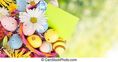 påske, eggs.