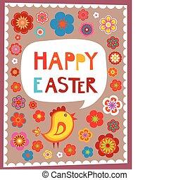påske, hilsen card