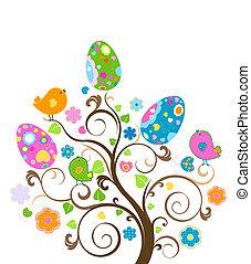 påske, træ
