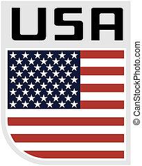 påstår, flagga, enigt, amerika, ikon