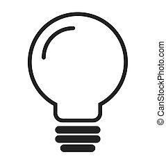 pære, energi, lys, ikon