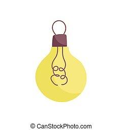 pære, energi, lys, ikon, magt
