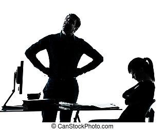 père, adolescent, étudiant, girl, prof, devoirs, homme