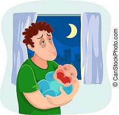 père, fatigué