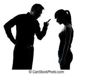 père, fille, conflit, conflit