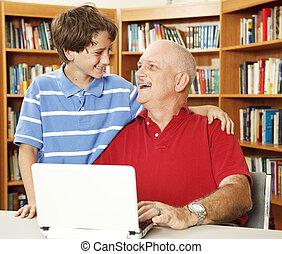 père, fils, affection
