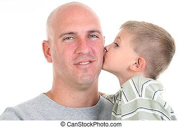 père, fils, baiser