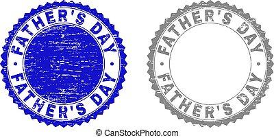 père, gratté, timbres, grunge, jour