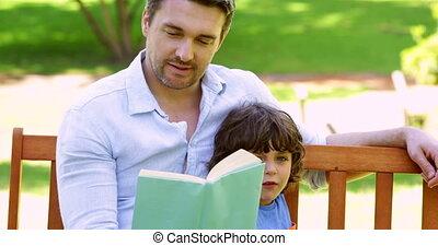 père, séance, banc, parc, fils