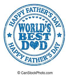 père, timbre, jour, heureux
