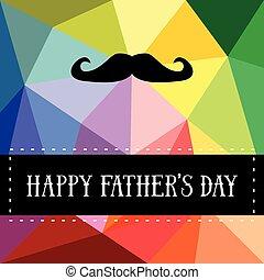 père, vecteur, moustache, jour, carte, heureux