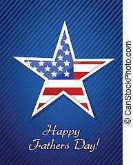 pères, fier, patriotique, jour, carte, heureux
