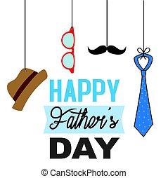pères, heureux, jour