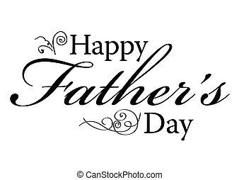 pères, type, jour, heureux