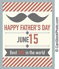 pères, vecteur, jour, carte