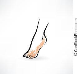 pé, ícone
