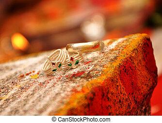 pé, anel, indianas, casório