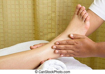 pé, reflexology, massagem, spa