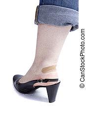 pé, sapato, femininas