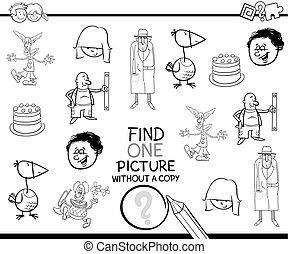 pédagogique, coloration, page, activité