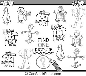 pédagogique, tâche, coloration, page