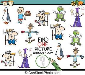 pédagogique, tâche, pour, preschoolers