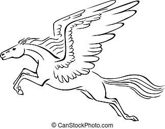 Cliparts et illustrations de p gase 2 195 dessins et illustrations libres de droits de p gase - Comment dessiner un pegase ...