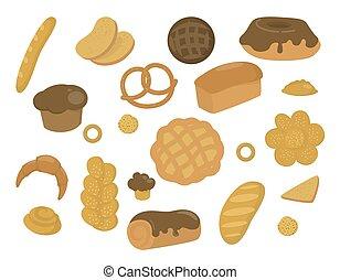 pékség, állhatatos, termékek