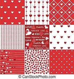 példa, valentine's, seamless, nap