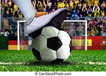 pénalité, football, coup de pied