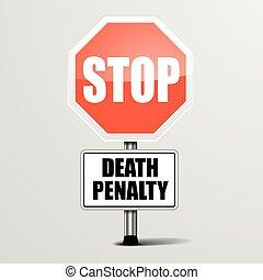 pénalité, mort, arrêt