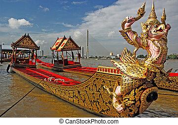 péniche, thaïlande, royal