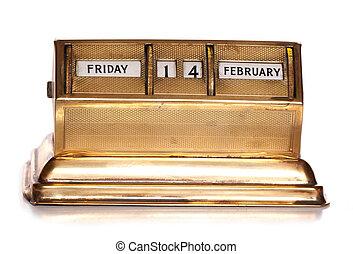 péntek, 14 february, állandó, naptár