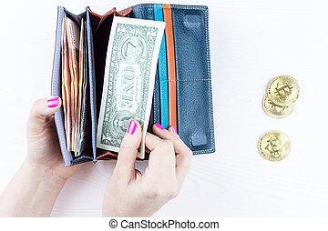 pénz, és, bitcoin