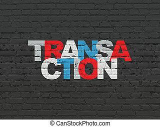 pénz, concept:, lebonyolítás, képben látható, fal, háttér