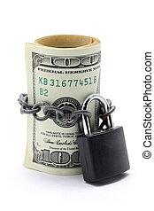 pénz, megmentés, biztosítás, fogalom