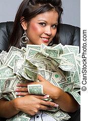 pénz, nő, birtok