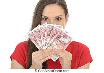 pénz, nő, fiatal, birtok