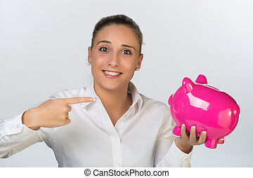 pénz, nő, megmentés, fiatal