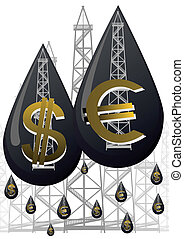 pénz, olaj