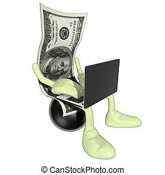 pénz, online