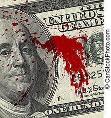 pénz, vér