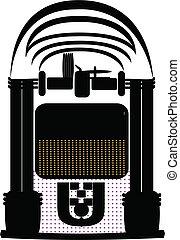 pénzbedobós gramofon automata