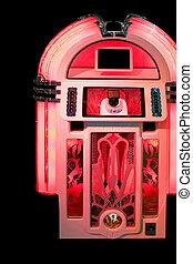pénzbedobós gramofon automata, piros