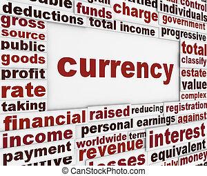 pénznem, anyagi, tervezés, poszter